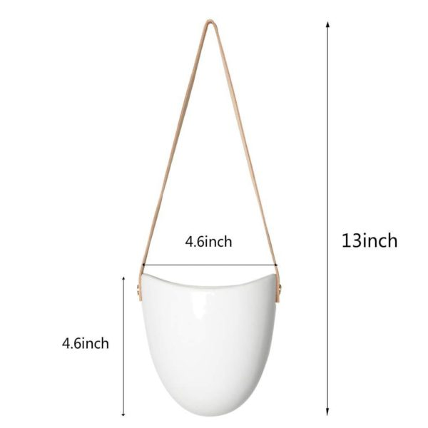 Size of Hanging Ceramic Pot